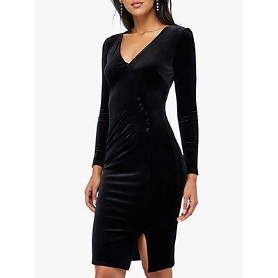 Monsoon Elle Velvet Button Detail Shift Dress