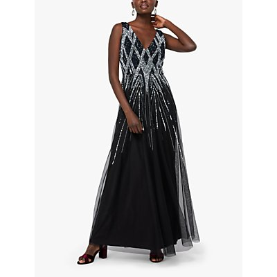 Monsoon Marnie Embellished Maxi Dress, Black