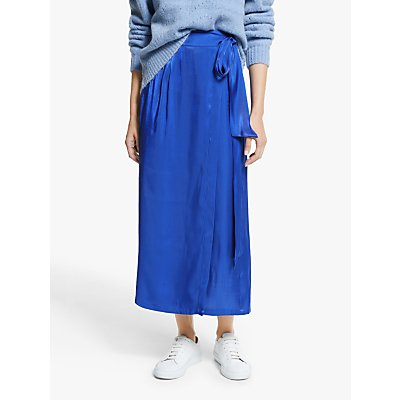 Y.A.S Kima High Waisted Midi Skirt, Blue