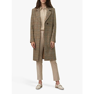 Winser London British Harris Tweed Coat, Brown