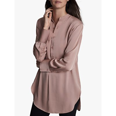 Winser London Silk Tunic Blouse, Antique Rose