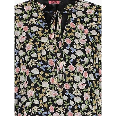 Chi Chi London Kinsey Floral Print Dress, Black