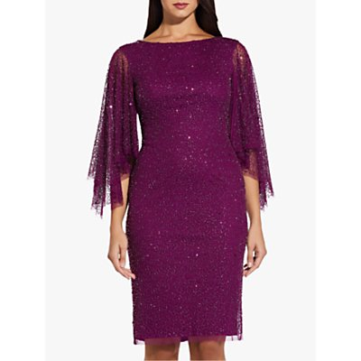 Adrianna Papell Beaded Cocktail Dress, Wildberry