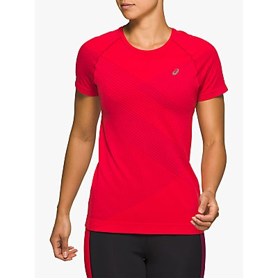 ASICS Tokyo Seamless Short Sleeve Running Top, Classic Red