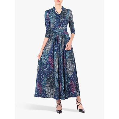 Jolie Moi Tie Neck Half Sleeve Floral Print Dress, Multi