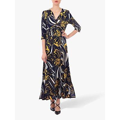 Jolie Moi Twist Front Maxi Dress, Navy Floral