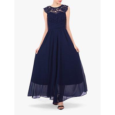 Jolie Moi Cap Sleeve Flared Maxi Dress