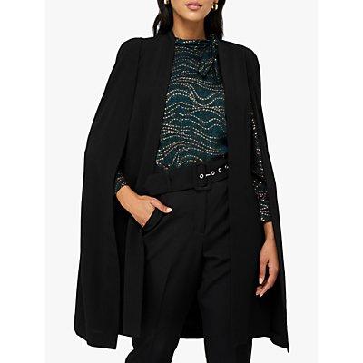 Monsoon Katya Longline Split Jacket, Black