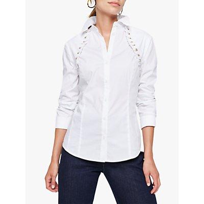Damsel in a Dress Odile Cotton Blend Eyelet Shirt, Ivory