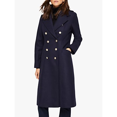 Damsel in a Dress Lexine Wool Blend Coat, Navy