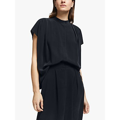 Modern Rarity Pleat Shoulder Silk Blouse