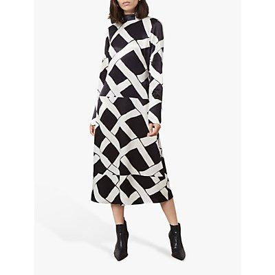 Finery Arden Ribbon Print Dress, Black/Multi