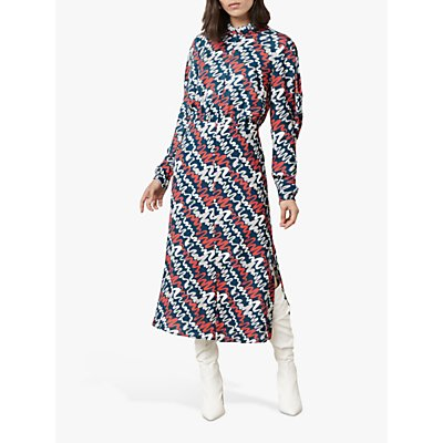 Finery Marne Ripple Print Midi Dress, Multi