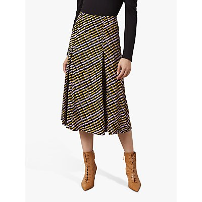 Finery Eldon Check Print Skirt, Pink/Multi