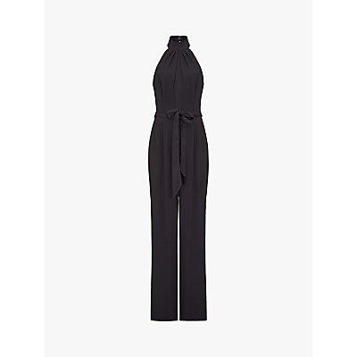 Ghost Courtney Satin Crepe Jumpsuit, Black