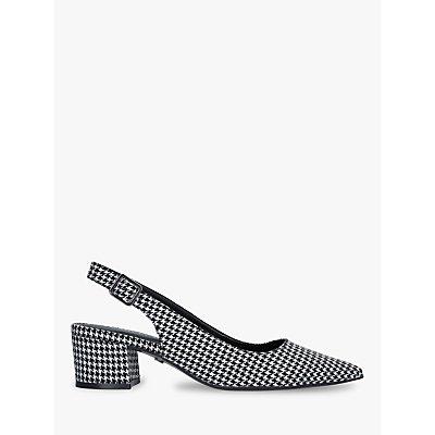 Carvela Aspire Houndstooth Slingback Court Shoes, Black/White