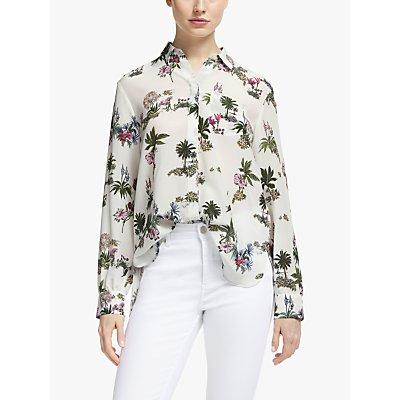 Marella Floral Collared Silk Blouse, Multi