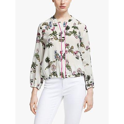 Marella Brado Floral Silk Blouse, Fuchsia/Multi