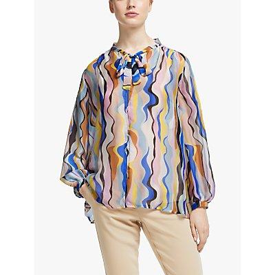 Marella Printed Silk Blouse, Multi