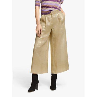 Marella Aretusa Wide Leg Trousers, Gold