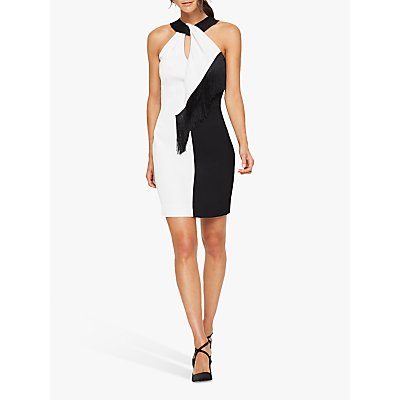 Damsel in a Dress Azalea Tassel Dress, Black/White