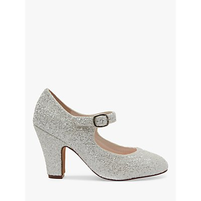 Rainbow Club Madeline Snow Glitter Court Shoes, Ivory