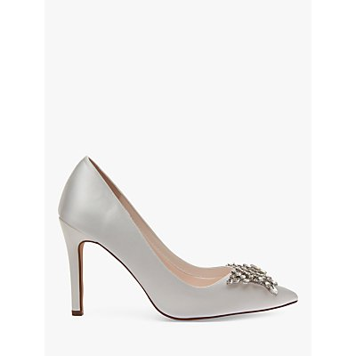 Rainbow Club Nelly Satin Jewel Court Shoes, Ivory