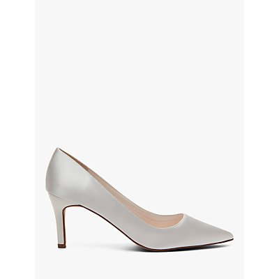 Rainbow Club Morgan Satin Court Shoes, Ivory