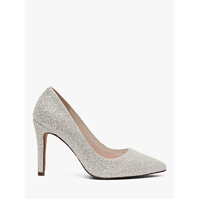 Rainbow Club Coco Snow Glitter Pointed Court Shoes, Ivory