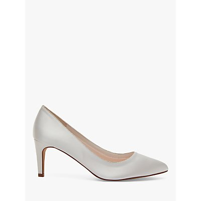 Rainbow Club Stella Satin Pointed Court Shoes, Ivory