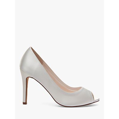 Rainbow Club Robyn Satin Peep Toe Court Shoes, Ivory