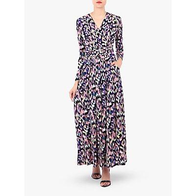 Jolie Moi Long Sleeve Printed Maxi Dress, Abstract Multi