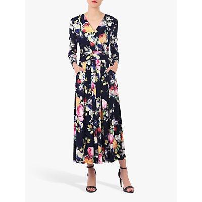 Jolie Moi Long Sleeve Printed Maxi Dress, Floral Multi