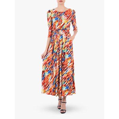 Jolie Moi Abstract Stripe Dress, Orange