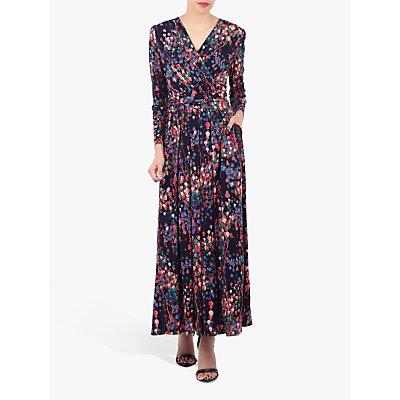 Jolie Moi Long Sleeve Printed Maxi Dress, Navy/Multi