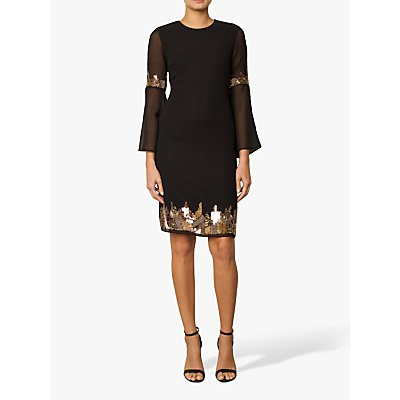 Raishma Embellished Tunic Dress, Black
