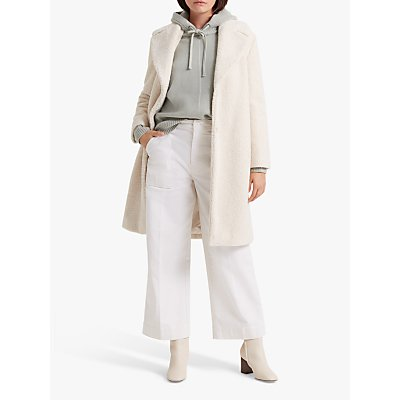 Club Monaco Ohren Faux Fur Coat, Ivory