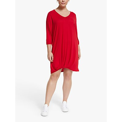 JUNAROSE Curve Mone Jersey Tunic Top, Barbados Cherry