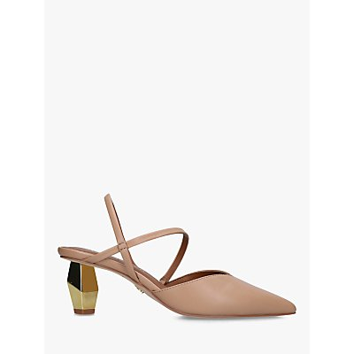 Kurt Geiger London Della Mirrored Heel Slingback Court Shoes