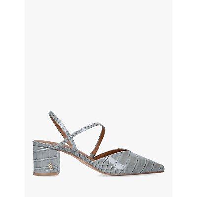 Kurt Geiger London Burlington Sling Back Croc Print Court Shoes