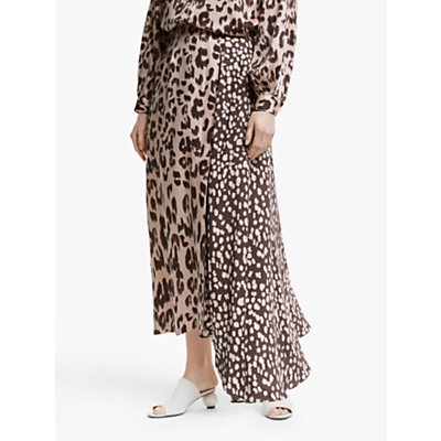 "Mother of Pearl Tencelâ""¢ Leopard Print Skirt, Pink/Multi"