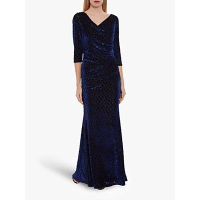 Gina Bacconi Garnet Velvet Wrap Maxi Dress