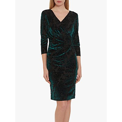 Gina Bacconi Liara Velvet Dress, Emerald
