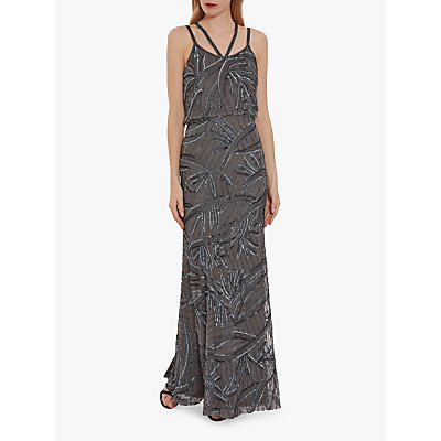 Gina Bacconi Jaima Maxi Dress, Light Grey