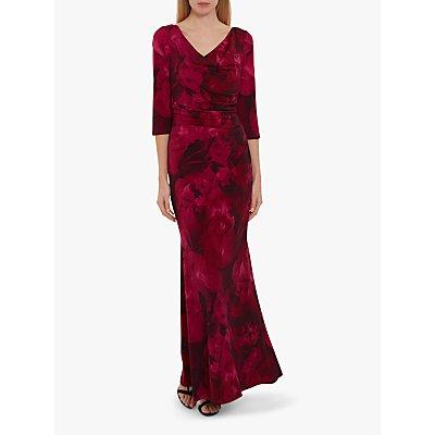 Gina Bacconi Lalia Floral Maxi Dress, Magenta