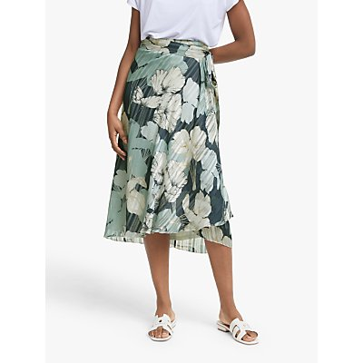 Ilse Jacobsen Hornbæk Floral Printed Skirt, Midnight Navy