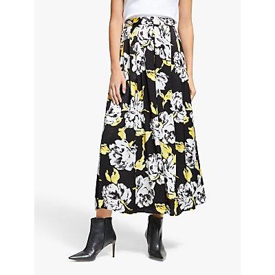 Gestuz Sarina Floral Skirt, Yellow/Black/White
