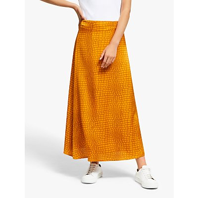 Gestuz Tabby Animal Print Maxi Skirt, Golden Oak
