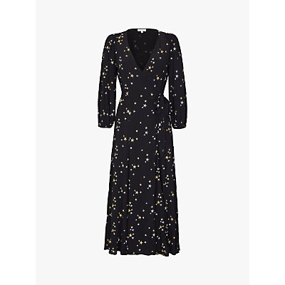 Ghost Emilie Star Print Dress, Black