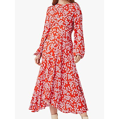Ghost Annie Floral Midi Dress, Bella Rose